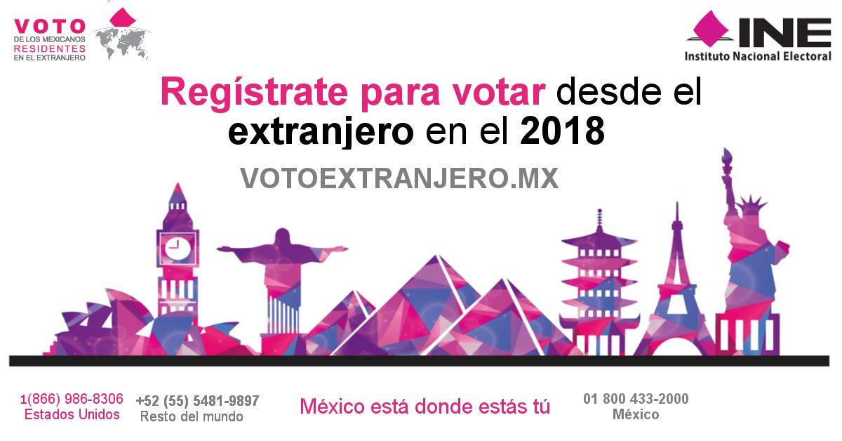 Entérate del procedimiento para votar desde el extranjero
